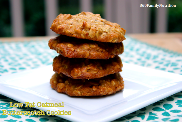 Low Fat Oatmeal Butterscotch Cookies 360 Family Nutrition