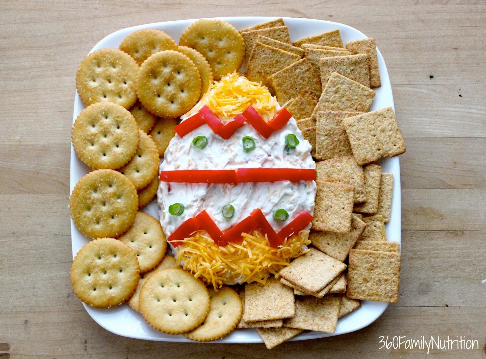 Easter egg greek yogurt cheese dip 360 family nutrition for Easter ideas for food