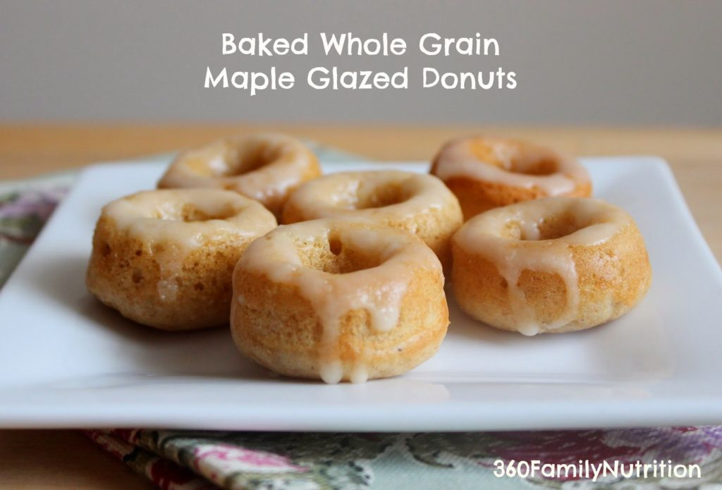 Baked Whole Grain Maple Glazed Donuts - 360 Family Nutrition