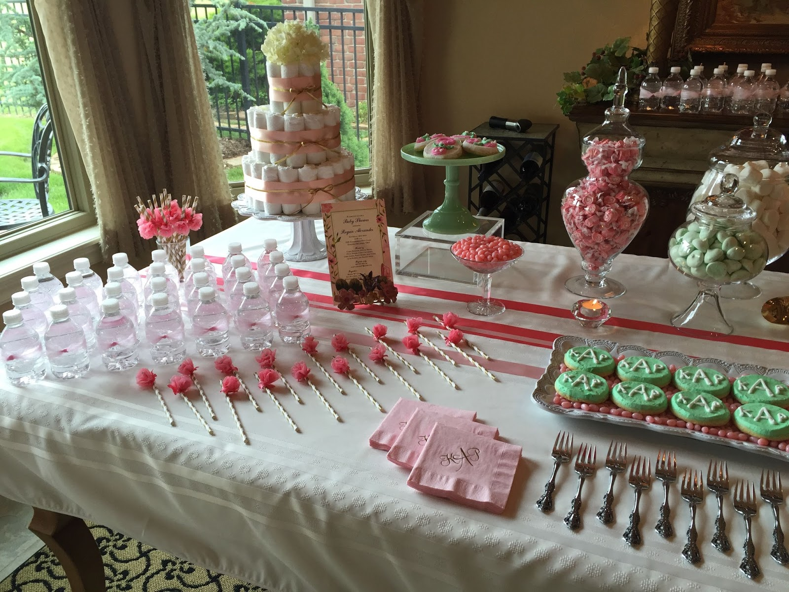 Girl Baby Shower Sweet Table