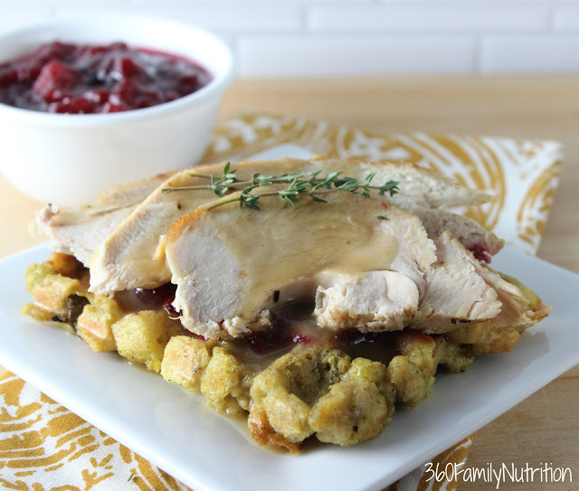 Turkey stuffing waffle 360 family nutrition for What to serve with thanksgiving turkey