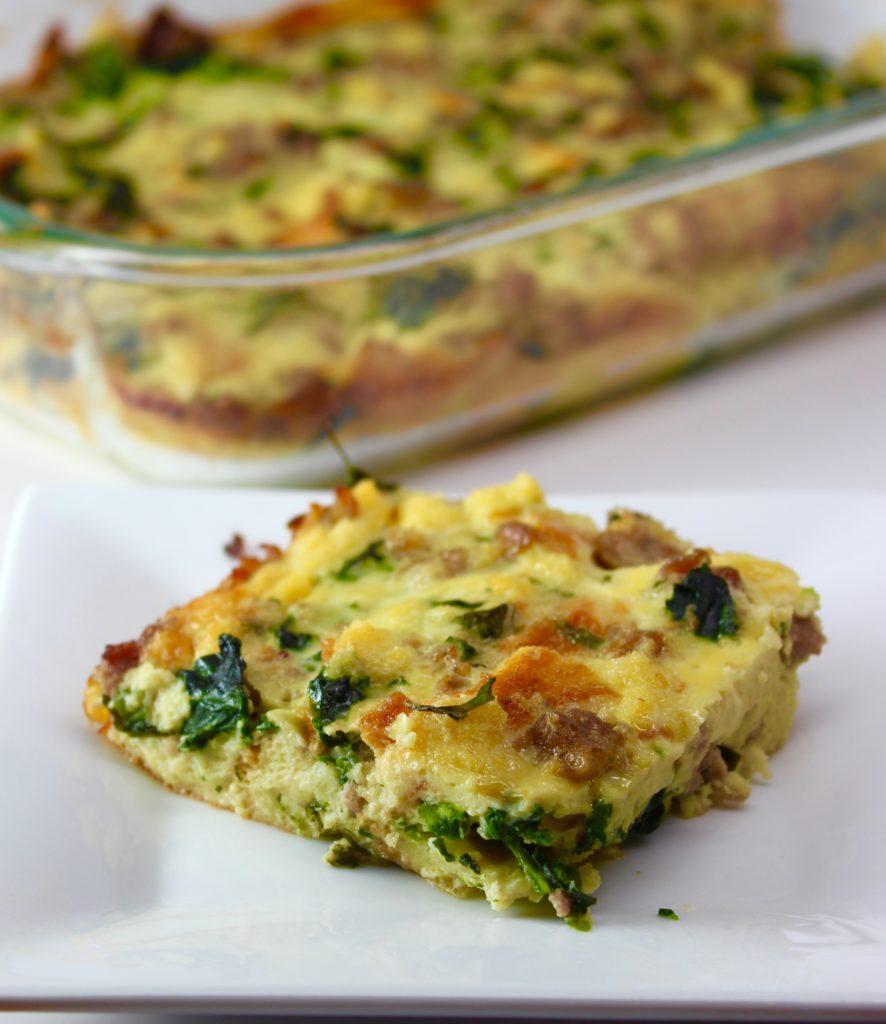 Do Ahead Egg And Sausage Bake: Overnight Egg, Spinach And Sausage Bake
