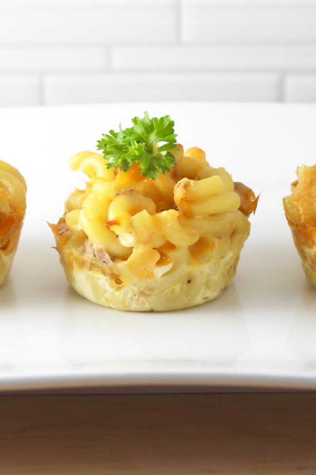 Tuna Mac and Cheese Cups