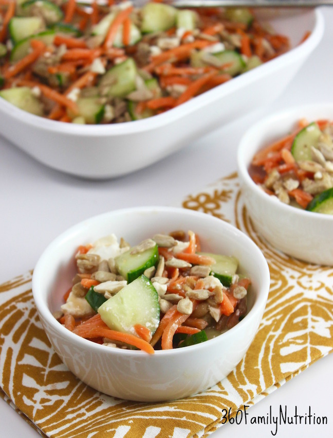 Carrot and Cucumber Balsamic Salad