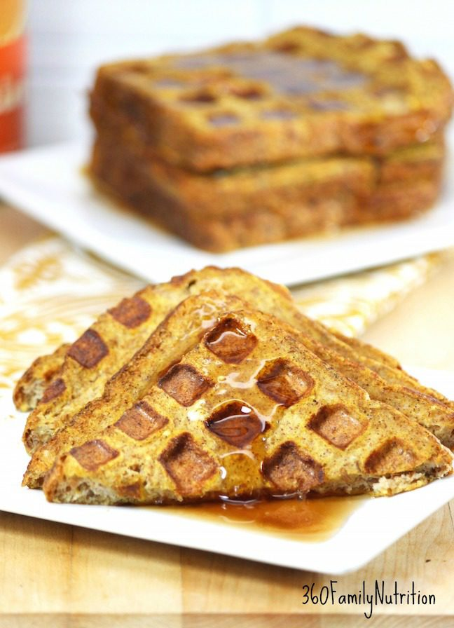 Pumpkin Waffled French Toast