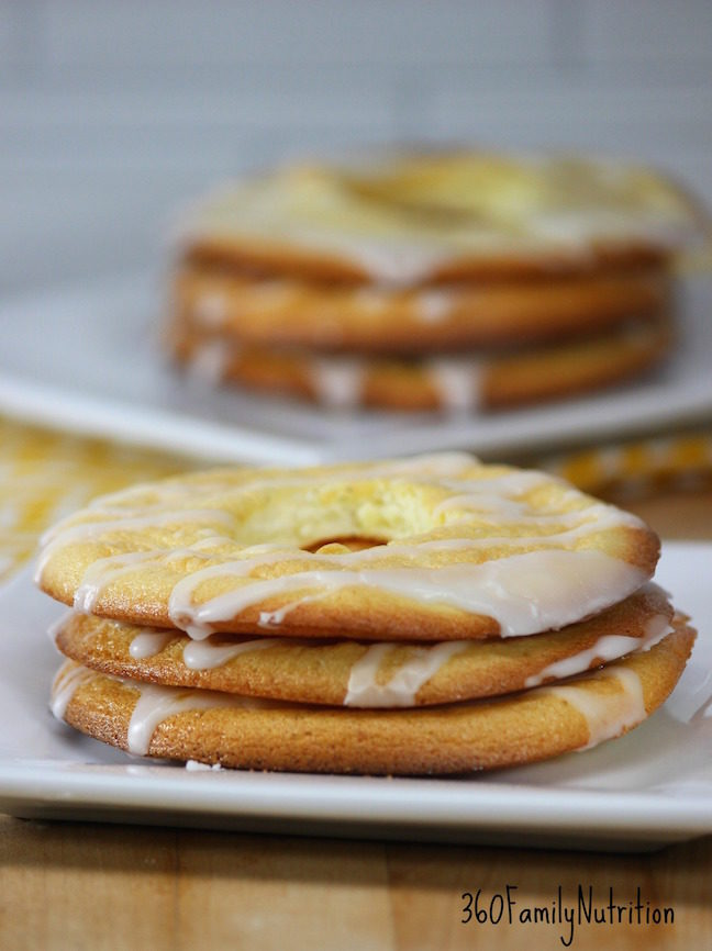 Lemon Cloud Bread Donuts