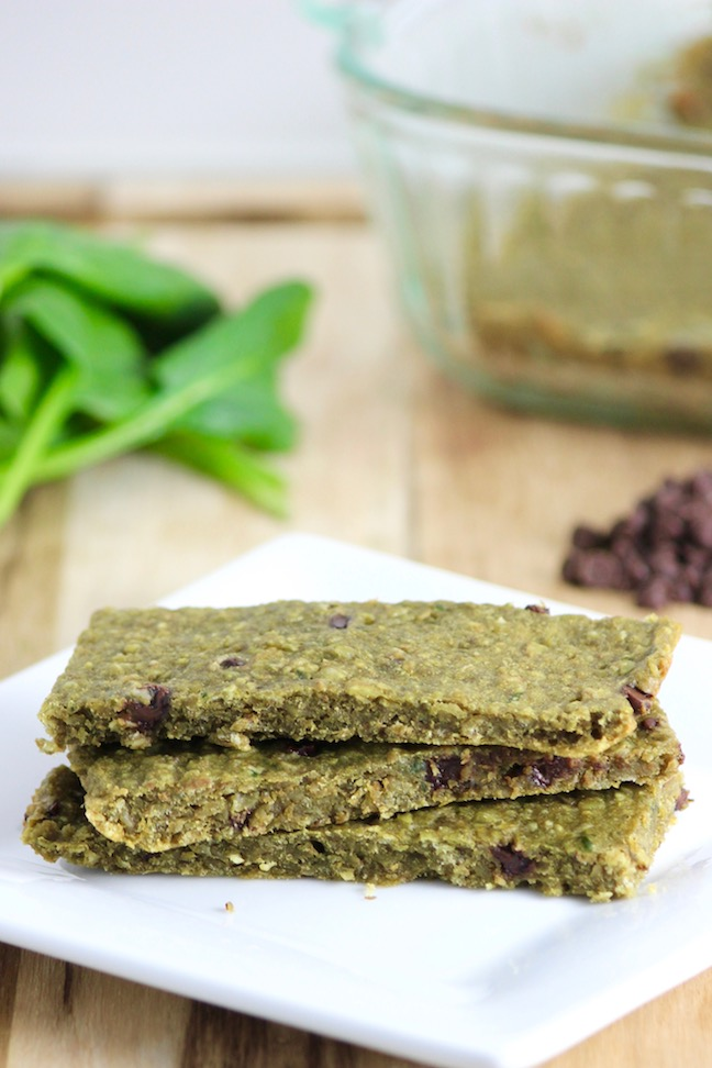 Chewy Spinach Peanut Butter Bar