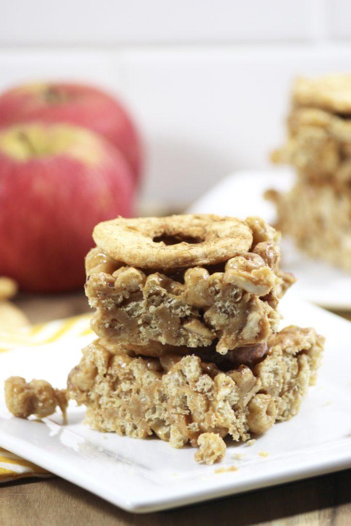 Peanut Butter Apple Cereal Bars