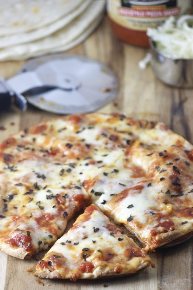 The Best Tortilla Crust Pizza