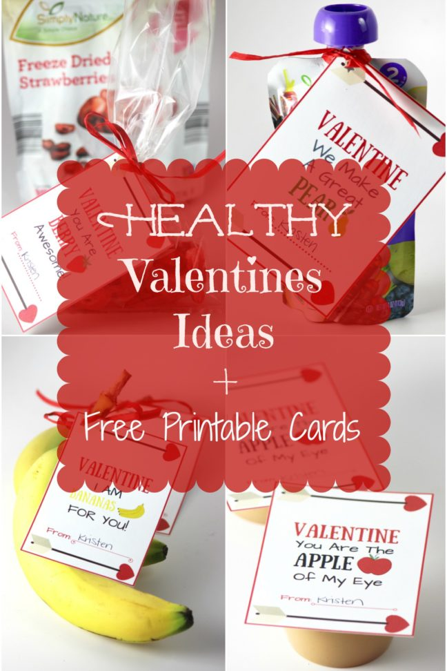 Healthy Valentine Card Ideas + Free Printables